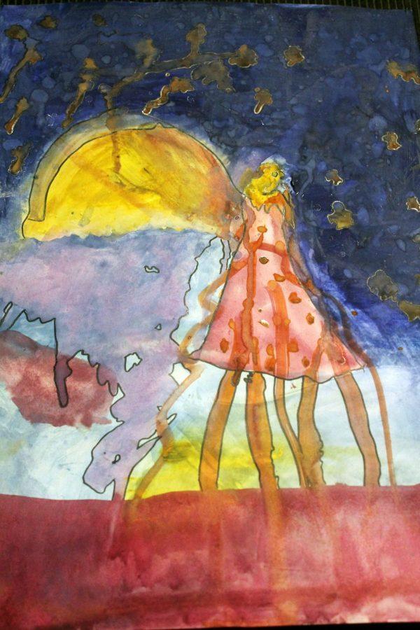 """Vaikų piešinių paroda pagal V. Mykolaičio-Putino poemą ,,Žilvinas ir Eglė"""""""