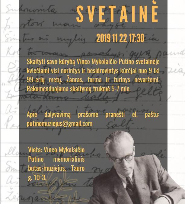 """2019.11.22 Antrasis susitikimas ,,Literatų svetainėje"""""""