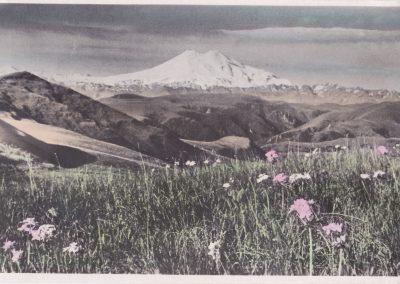 Kaukazas, Elbrusas. Iš kelionės į Kislovodsko sanatoriją, 1953 m. balandis.
